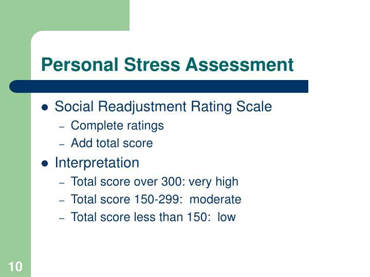 Personal Stress Assessment