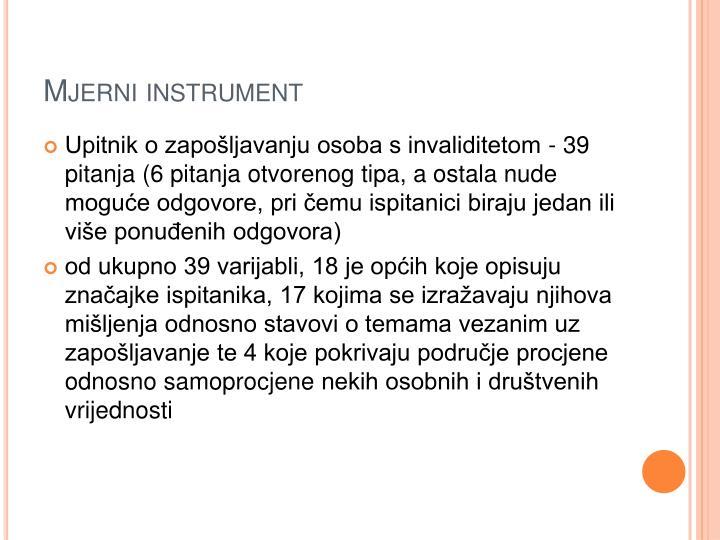 Mjerni instrument