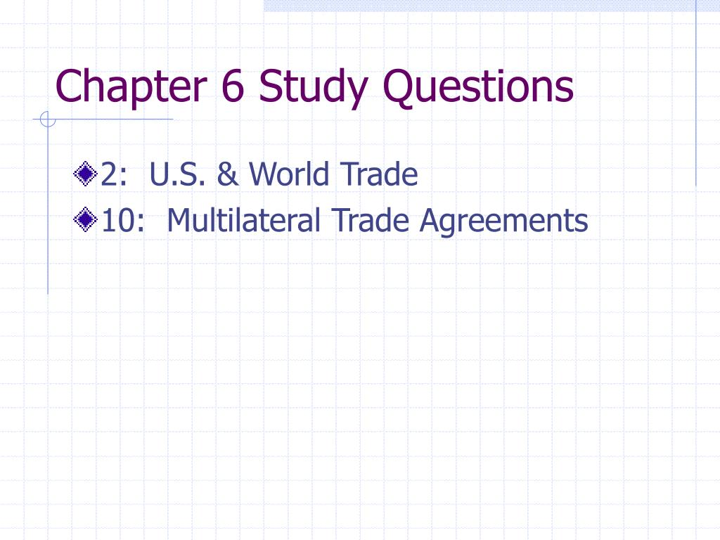 Chapter 6 Study Questions