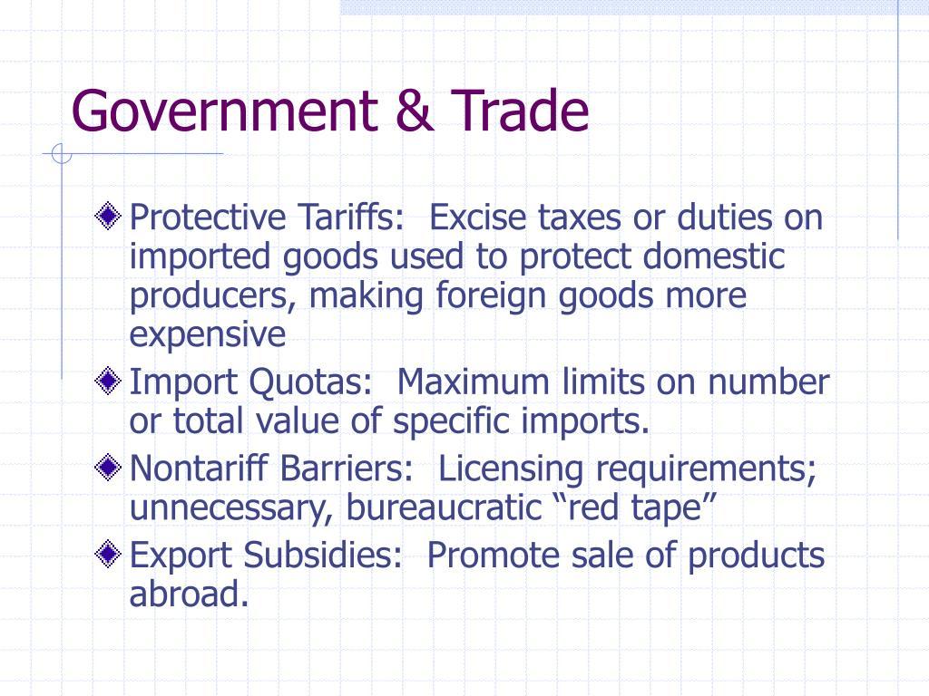 Government & Trade