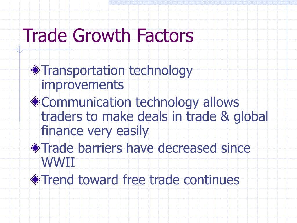 Trade Growth Factors