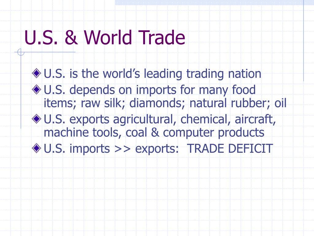 U.S. & World Trade