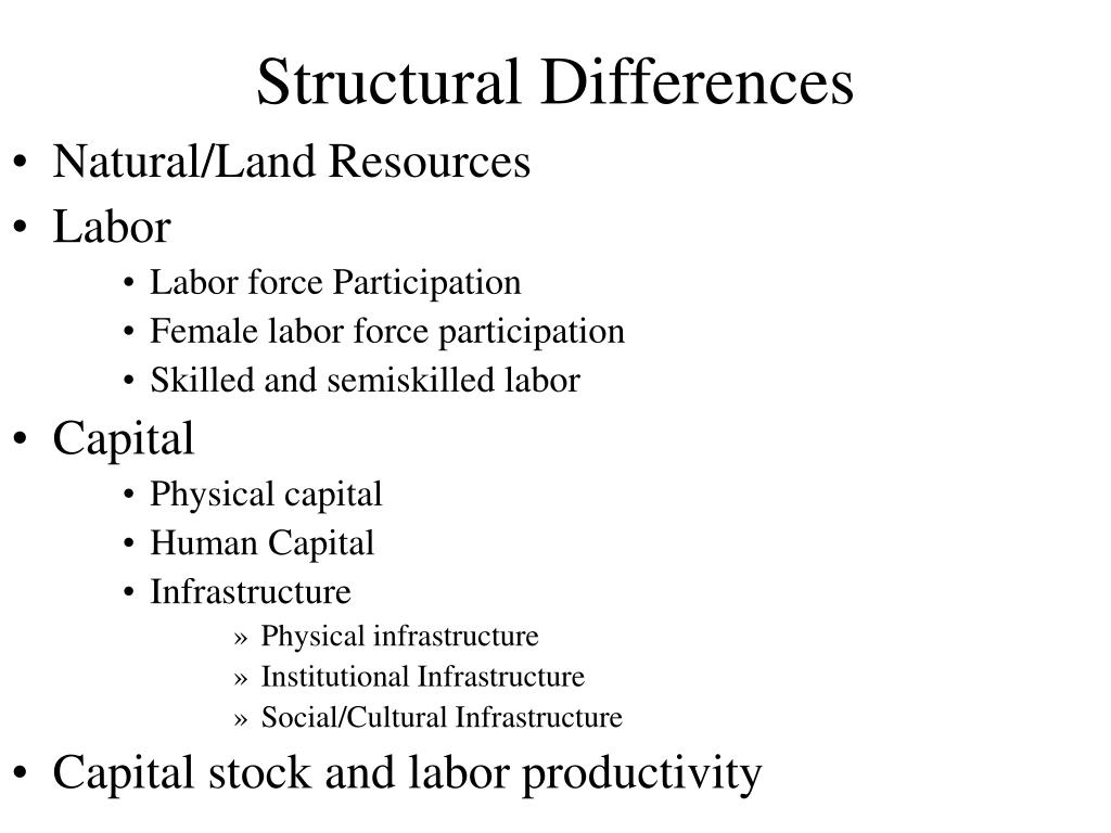 Structural Differences