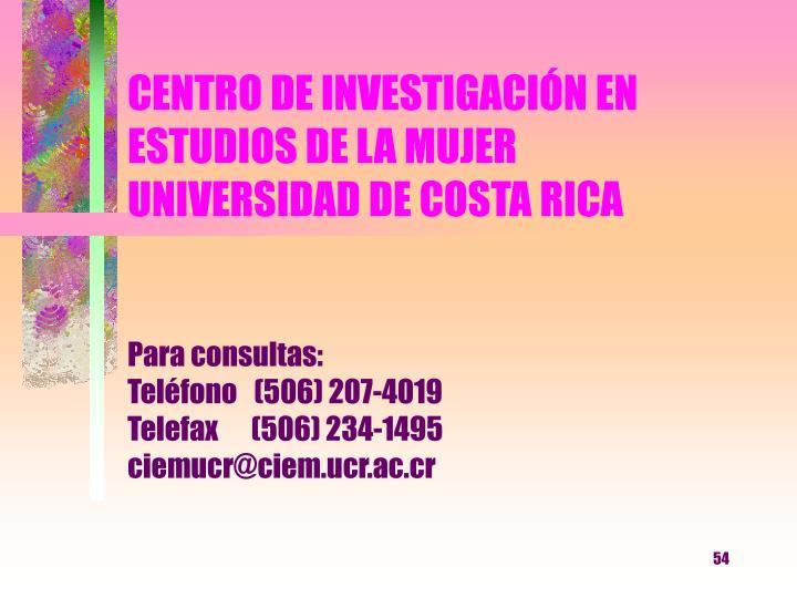 CENTRO DE INVESTIGACIÓN EN ESTUDIOS DE LA MUJER