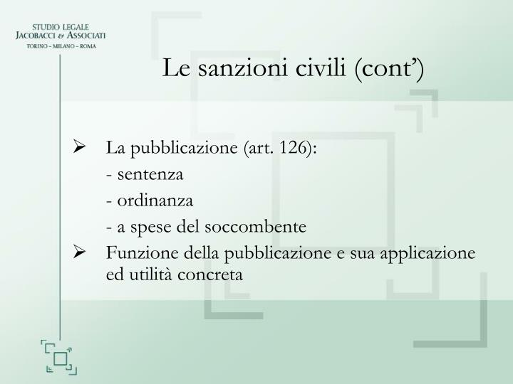 Le sanzioni civili (cont')