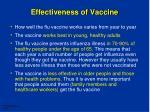 effectiveness of vaccine