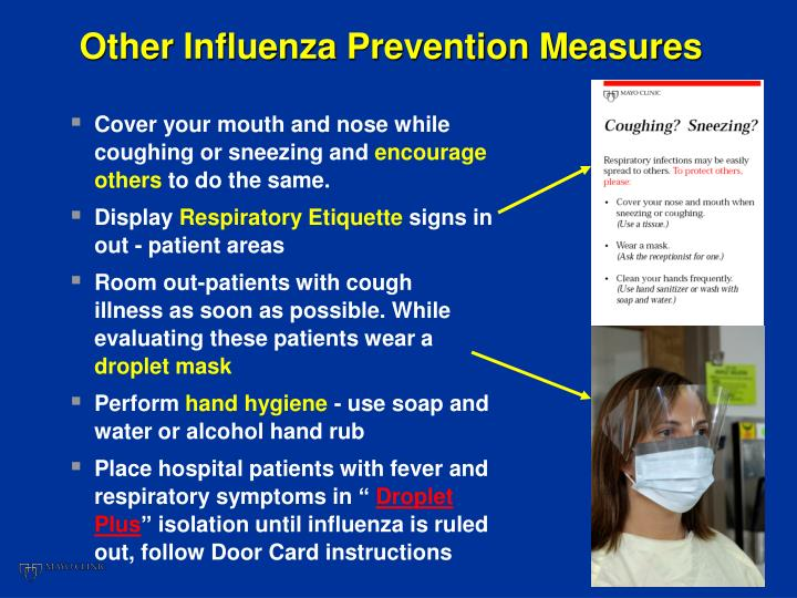 Other Influenza Prevention Measures