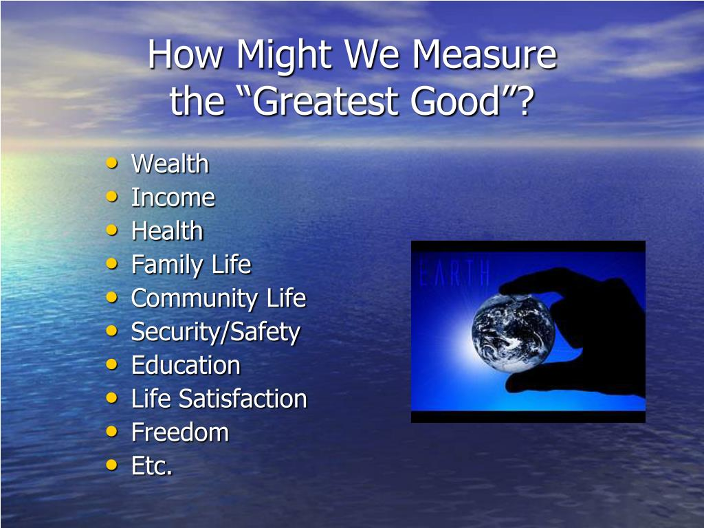 How Might We Measure