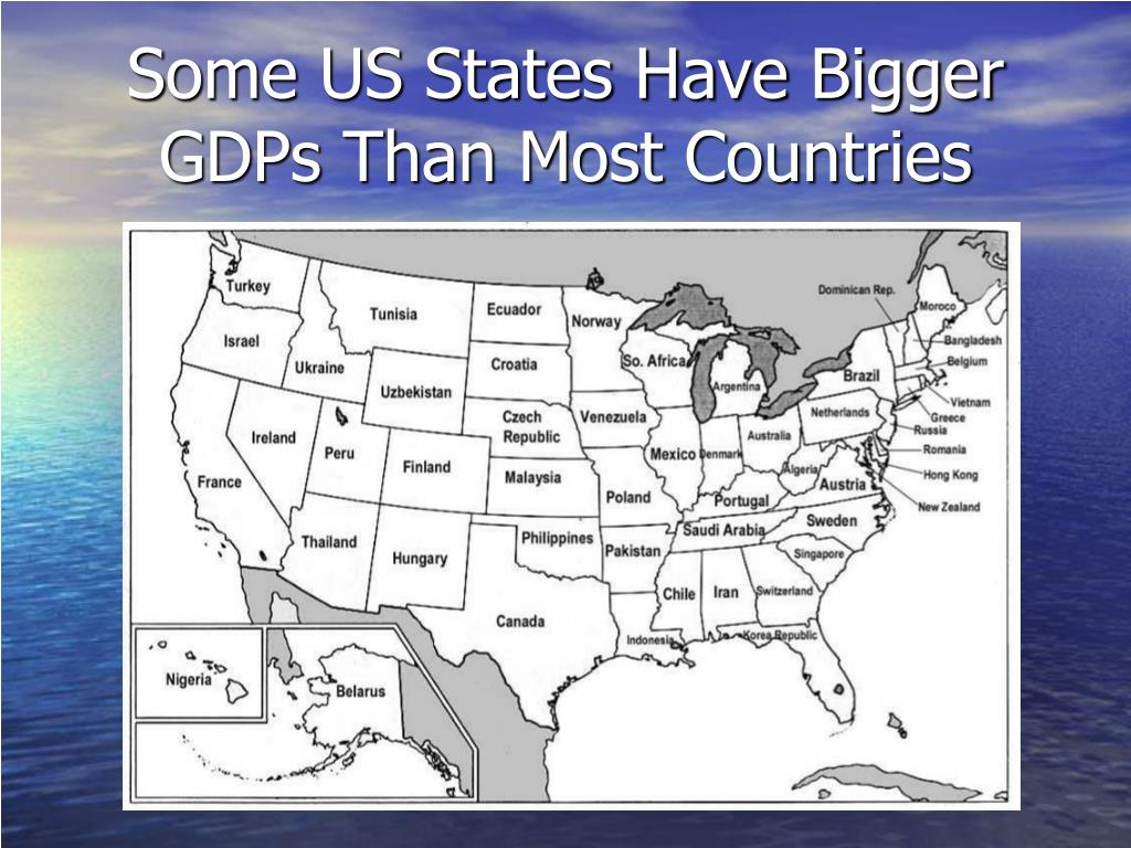Some US States Have Bigger GDPs Than Most Countries
