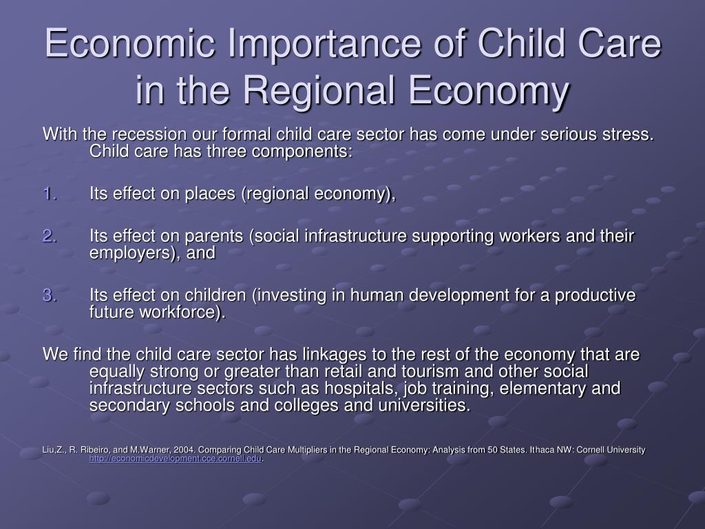Economic Importance of Child Care in the Regional Economy