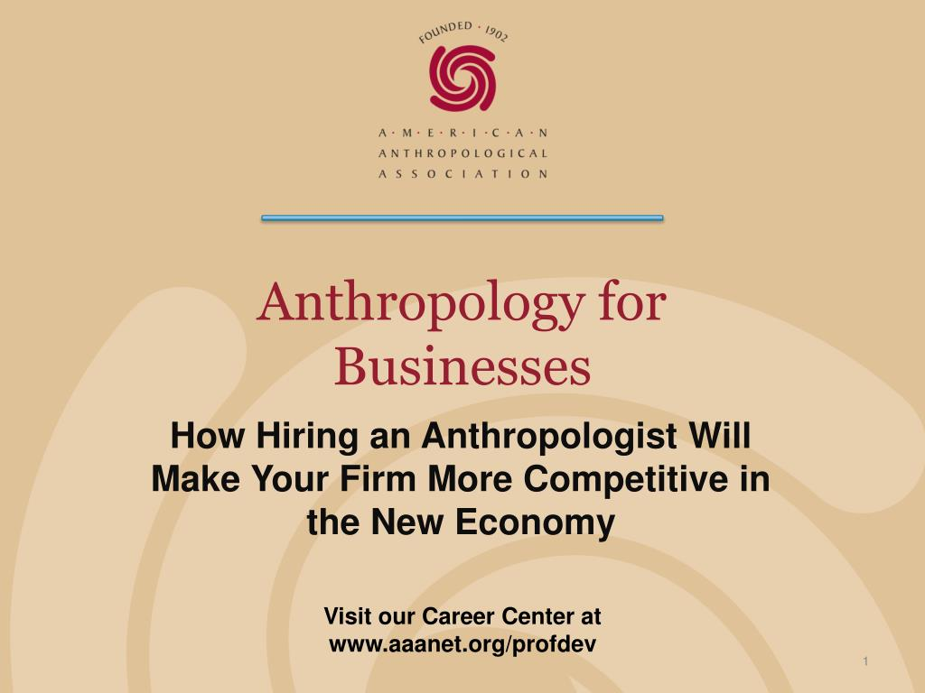 Anthropology for