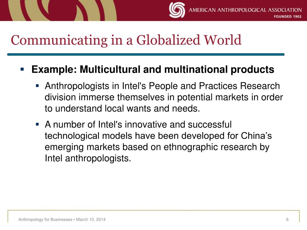 Communicating in a Globalized World