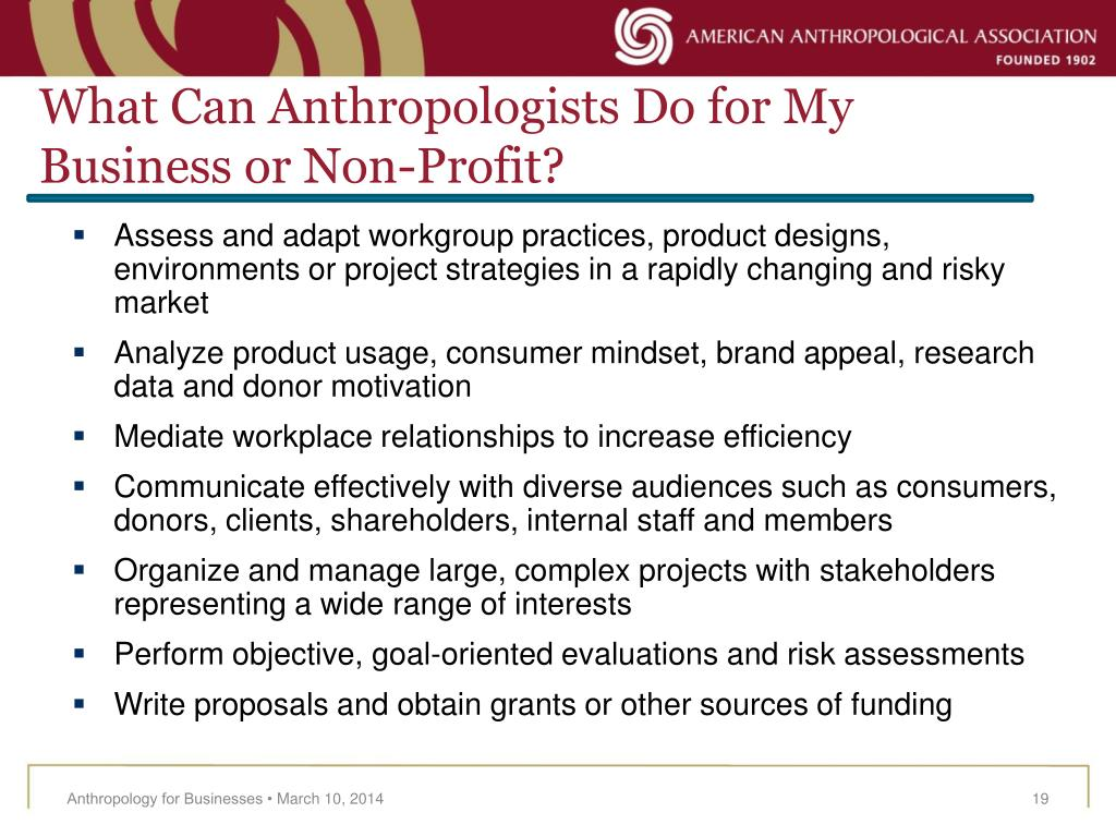 What Can Anthropologists Do for My Business or Non-Profit?