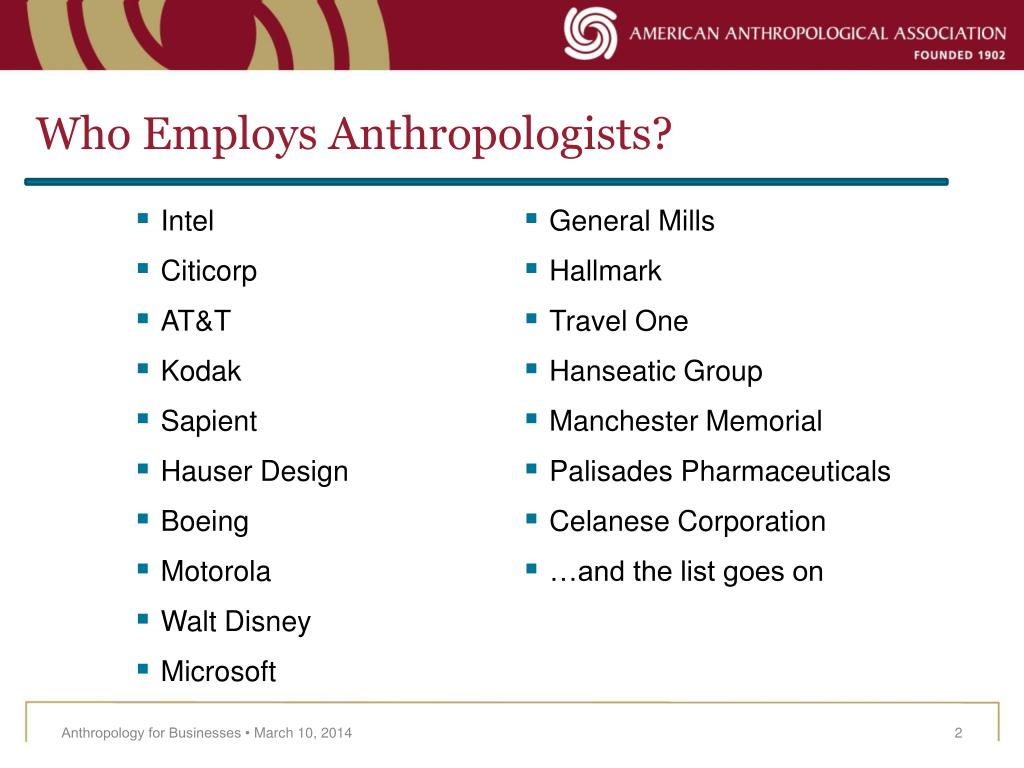 Who Employs Anthropologists?