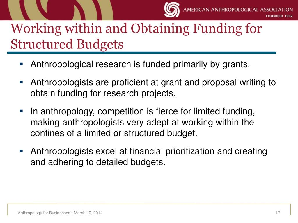 Working within and Obtaining Funding for Structured Budgets