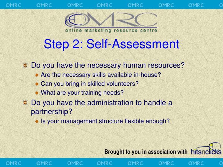 Step 2: Self-Assessment