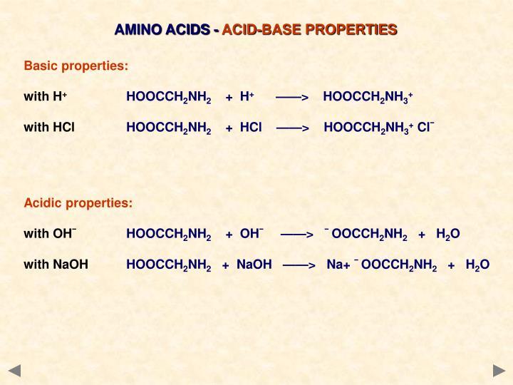 AMINO ACIDS -