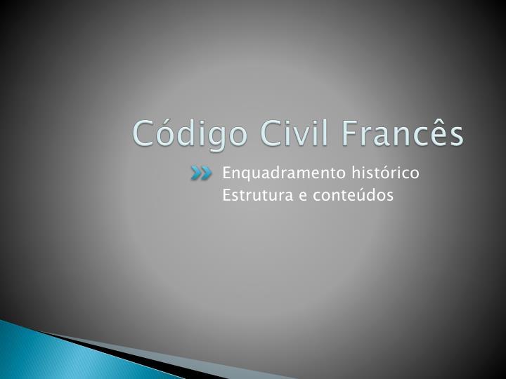 Código Civil Francês