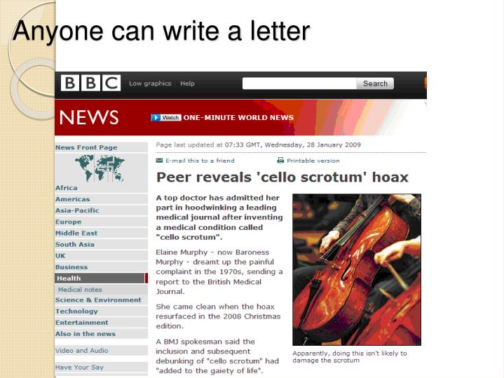 Anyone can write a letter