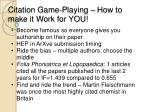 citation game playing how to make it work for you
