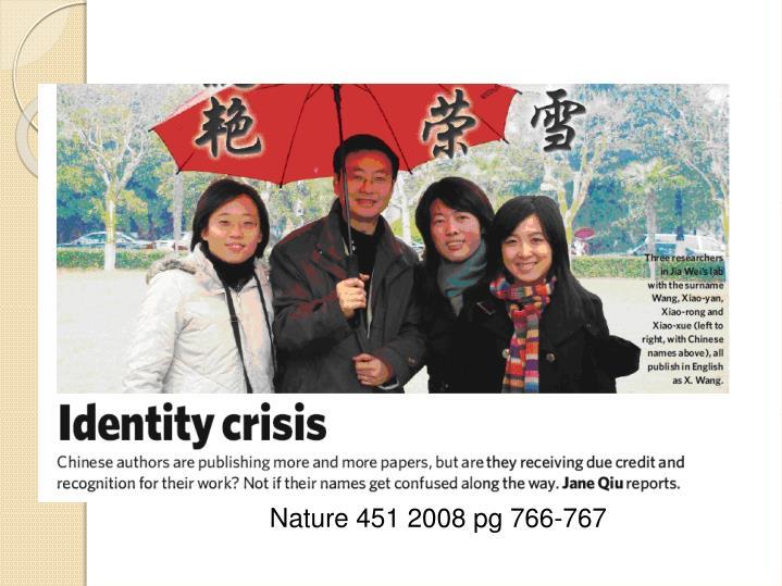 Nature 451 2008 pg 766-767
