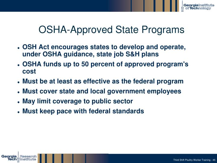 OSHA-Approved State Programs