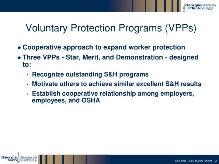 Voluntary Protection Programs (VPPs)