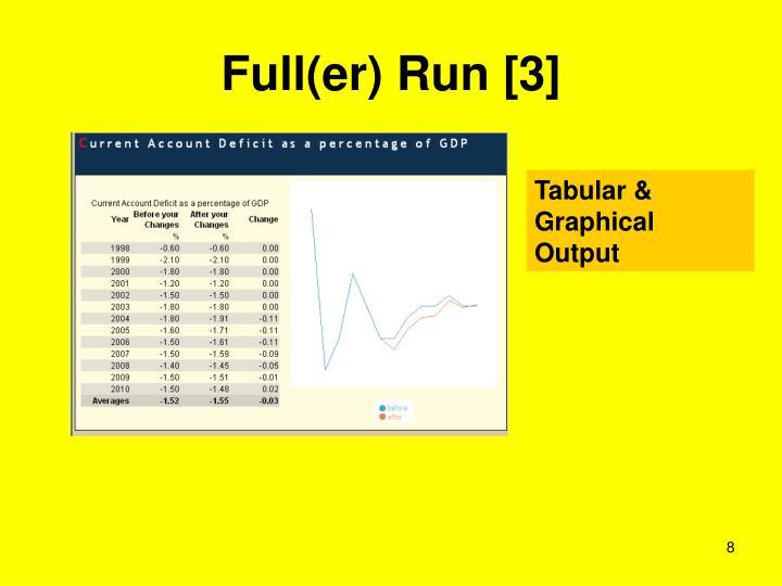 Full(er) Run [3]