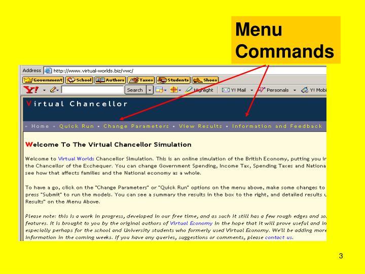 Menu Commands