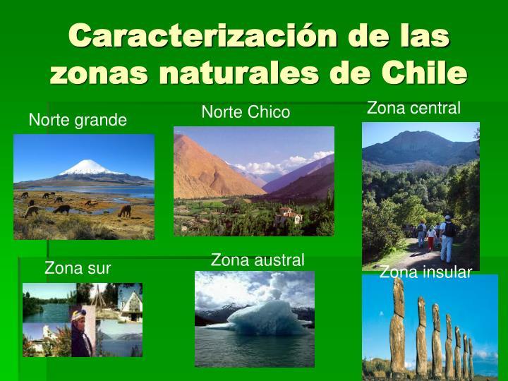 Caracterización de las zonas naturales de Chile