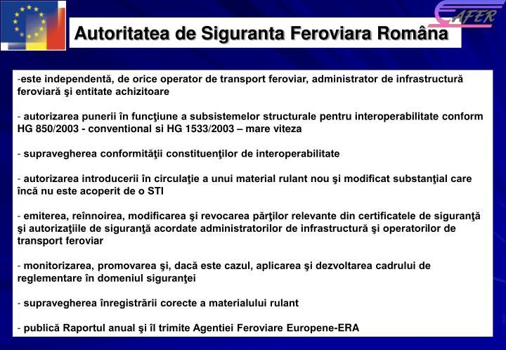 Autoritatea de Siguranta Feroviara Rom