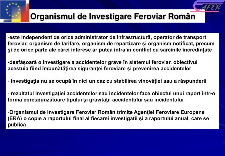 Organismul de Investigare Feroviar Rom