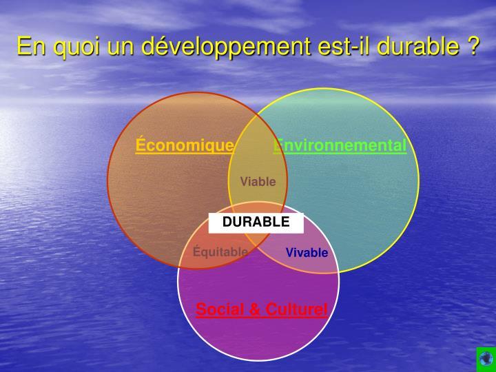 En quoi un développement est-il durable ?