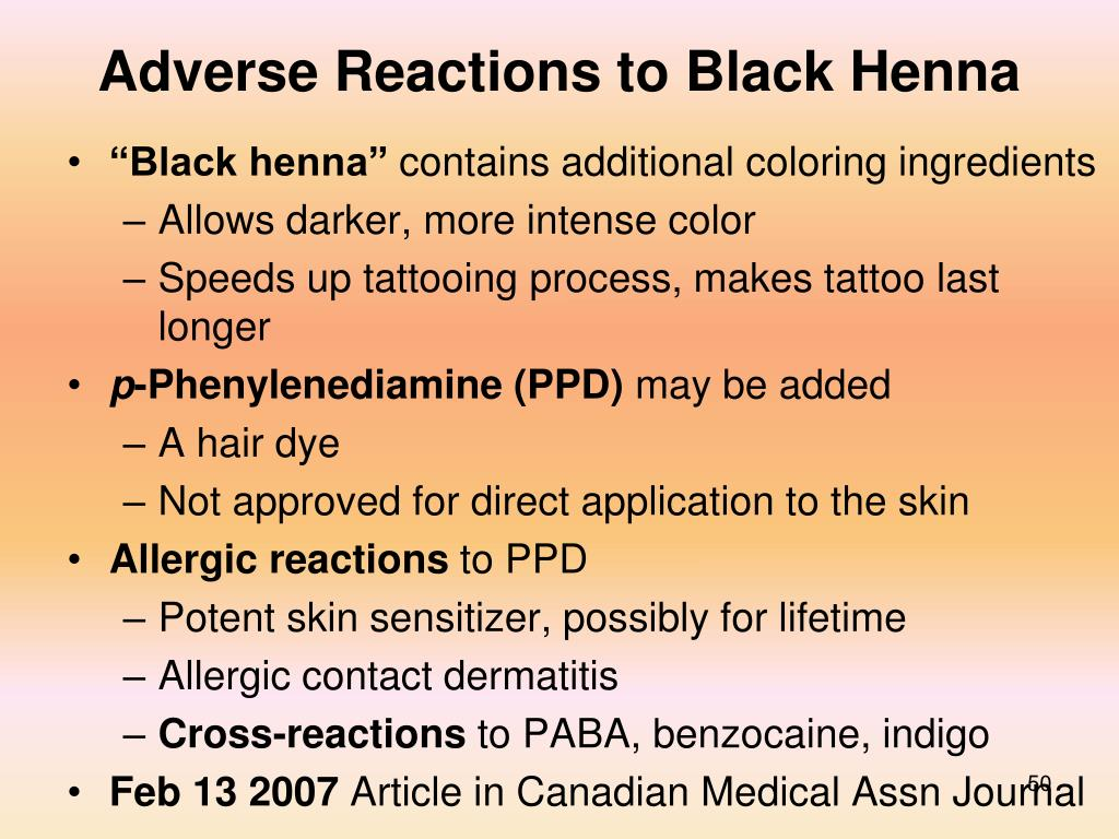Adverse Reactions to Black Henna