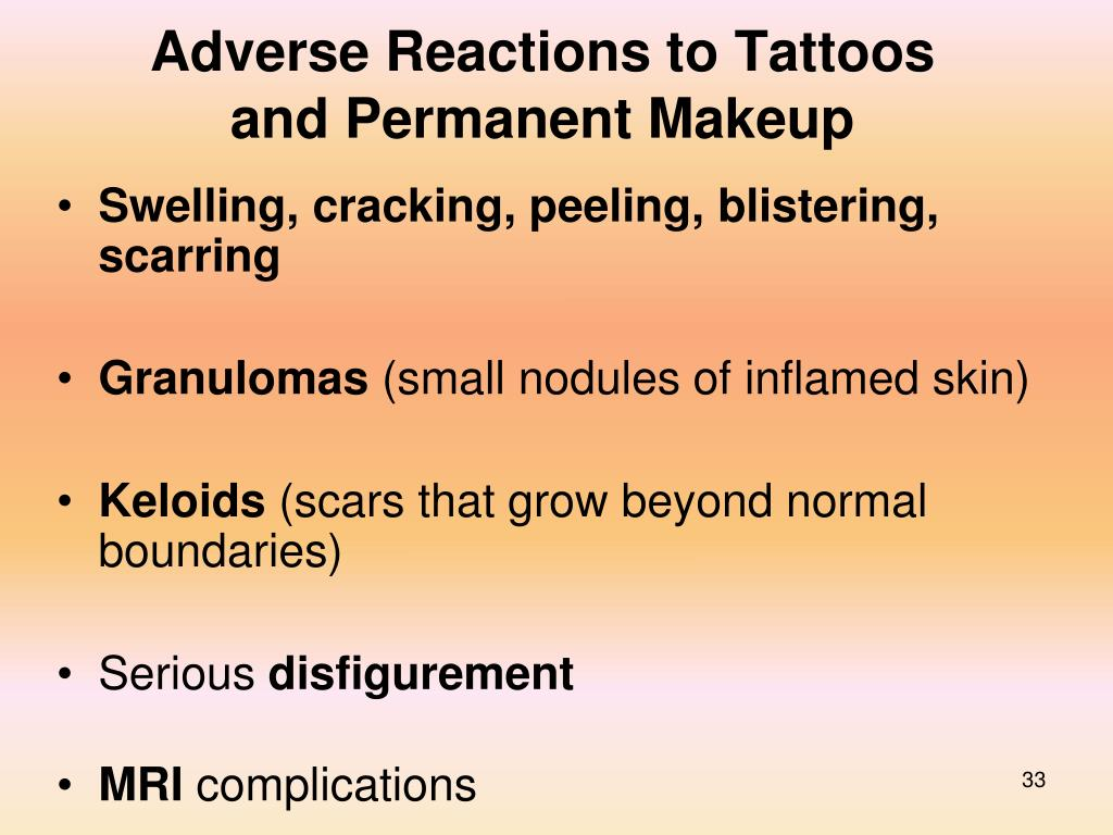 Adverse Reactions to Tattoos