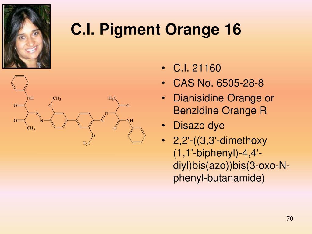 C.I. Pigment Orange 16