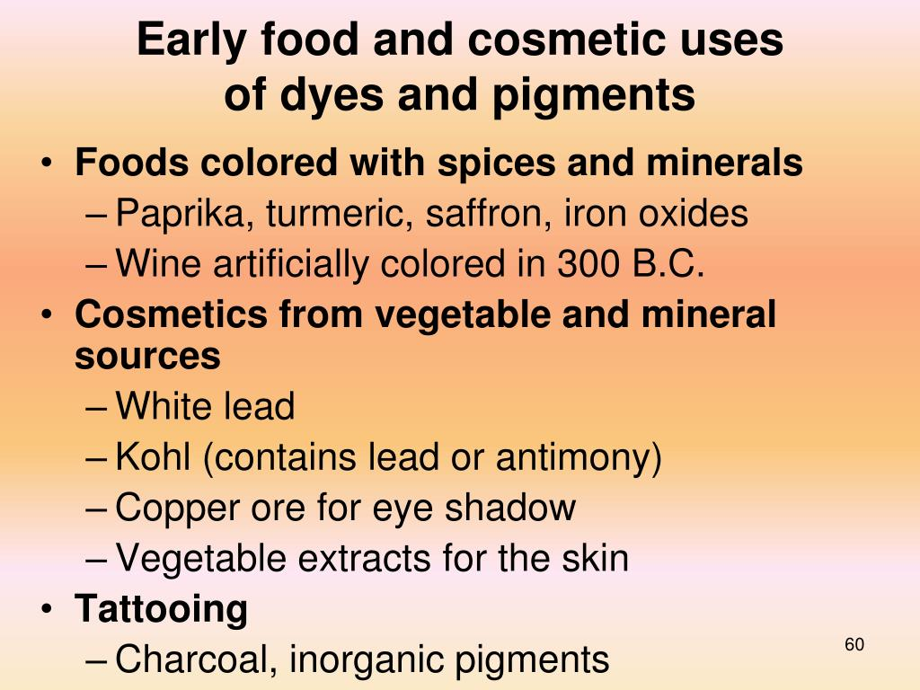 Early food and cosmetic uses