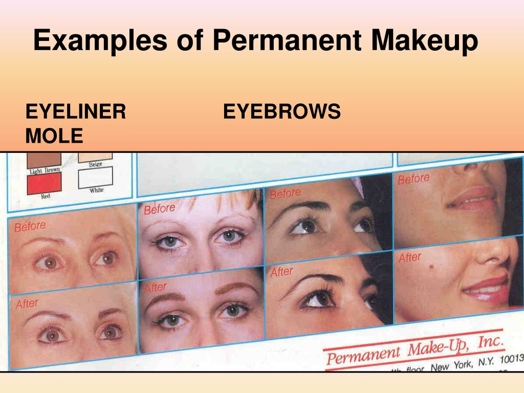 Examples of Permanent Makeup