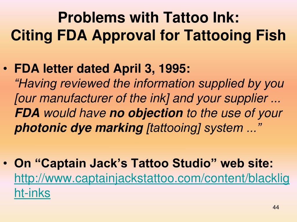 Problems with Tattoo Ink: