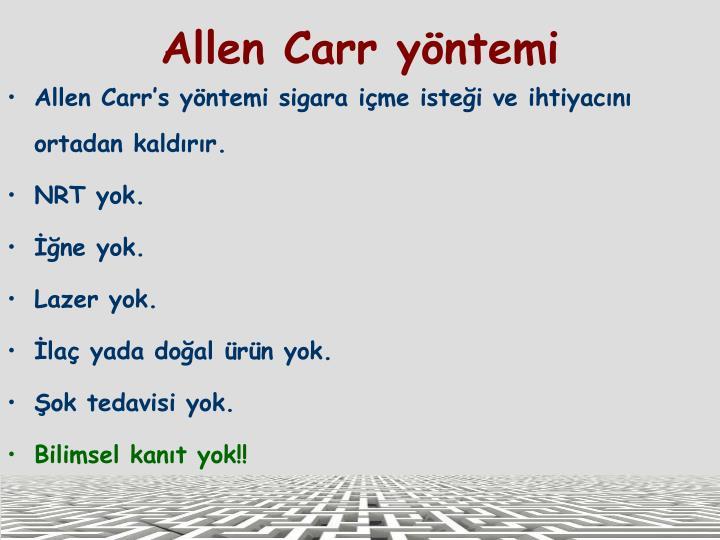 Allen Carr yöntemi