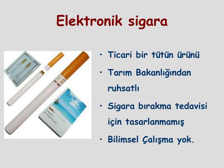 Ticari bir tütün ürünü