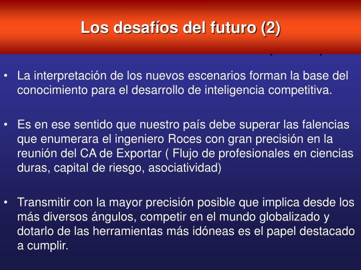 Los desafíos del futuro (2)