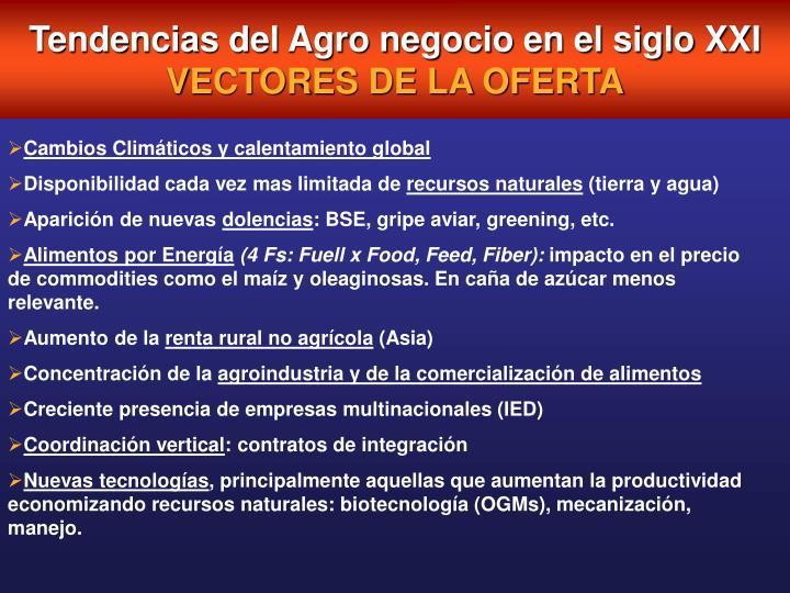 Tendencias del Agro negocio en el siglo XXI