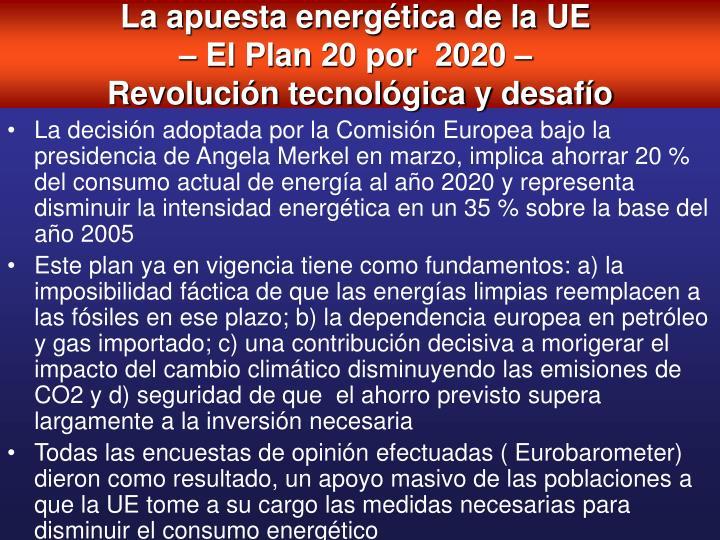 La apuesta energética de la UE