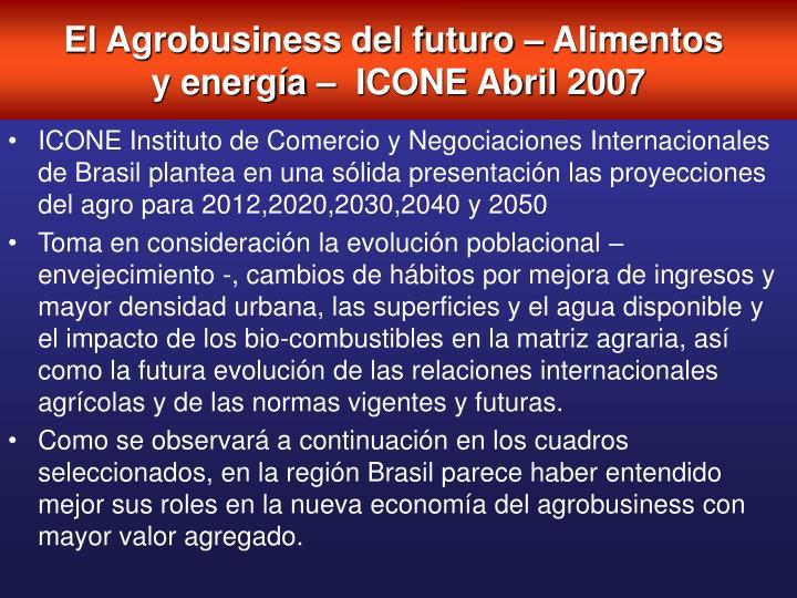 El Agrobusiness del futuro – Alimentos