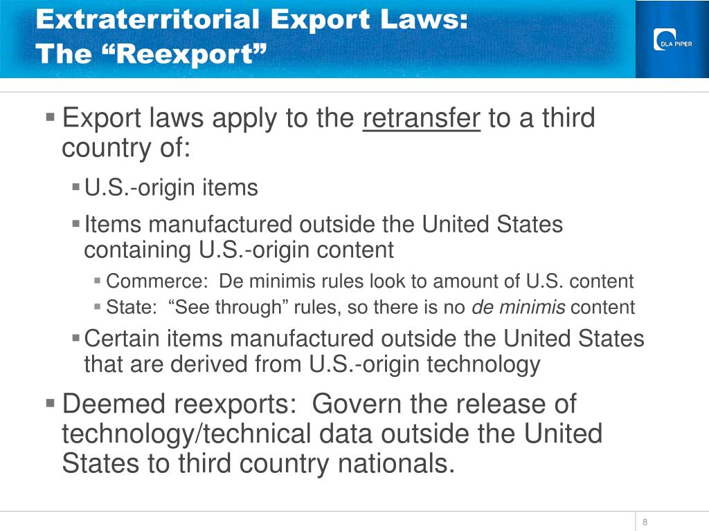 Extraterritorial Export Laws: