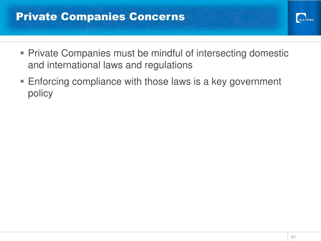 Private Companies Concerns