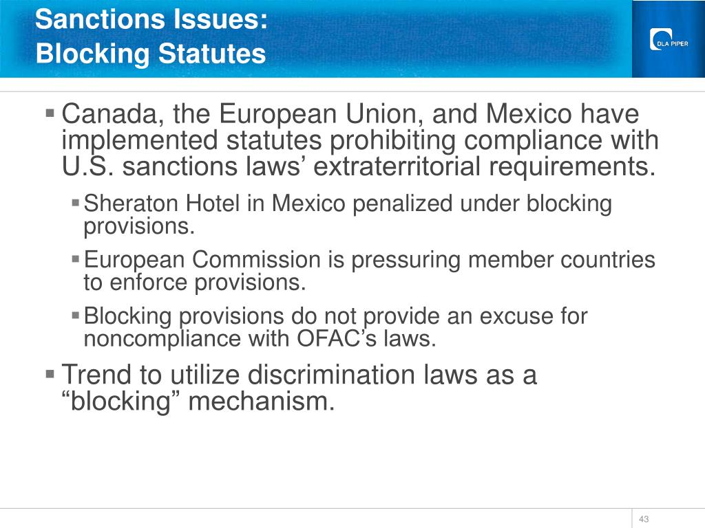 Sanctions Issues: