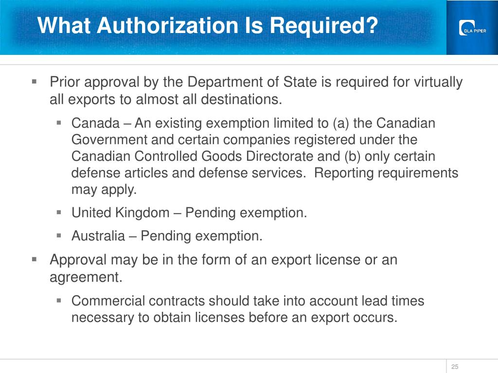 What Authorization Is Required?