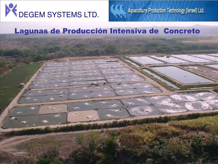 Lagunas de Producción Intensiva de  Concreto